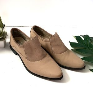 Free people natural / tan brady slip on loafers